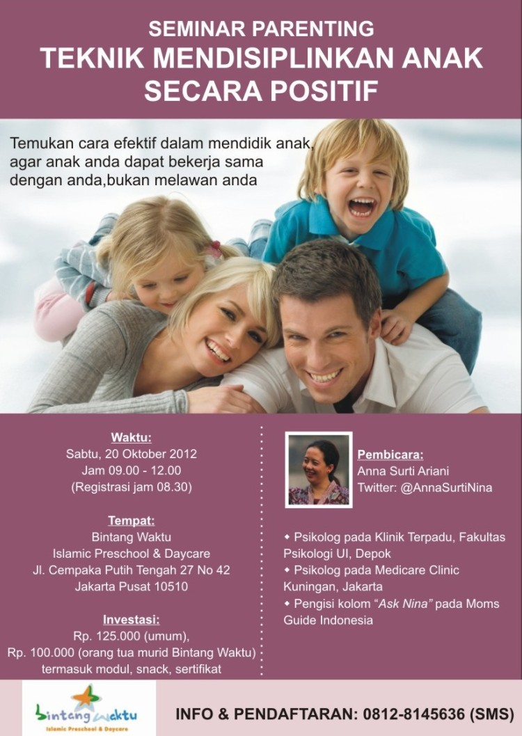 Seminar Parenting: Teknik Mendisiplinkan Anak - Sabtu, 20 Oktober 2012